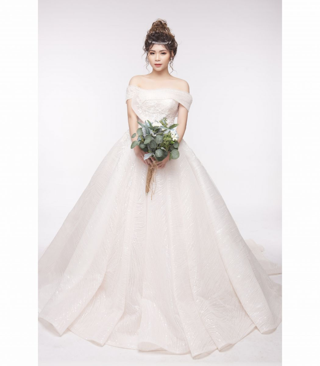 Dreamy Wedding Dress - Váy Xòe Nhũ Hồng