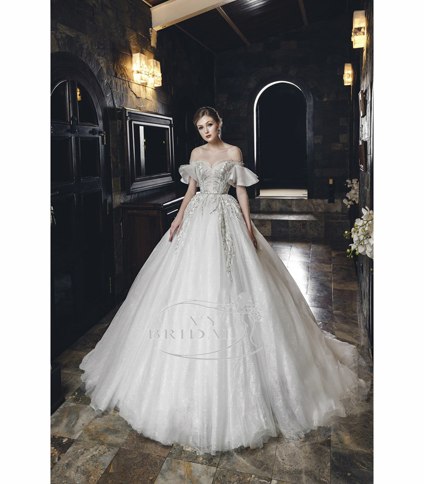 Luxury Wedding Dress - Váy Xòe Lưới