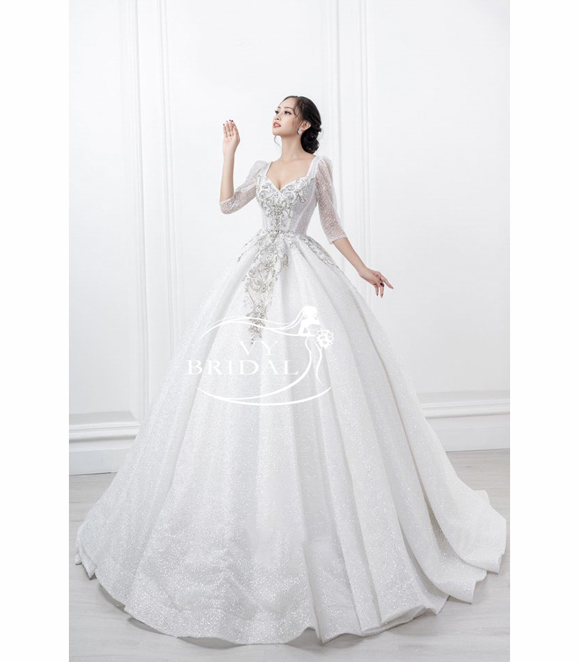 Luxury Wedding Dress - Váy Nhũ Xếp