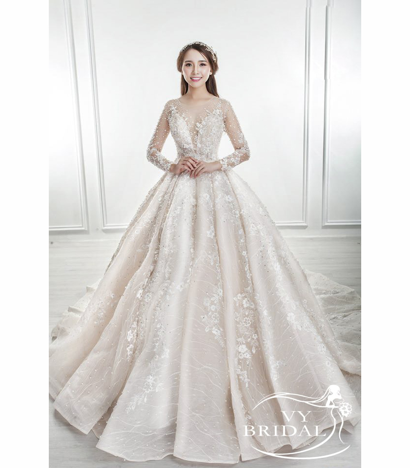 Luxury Wedding Dress - Váy Nhũ Ren