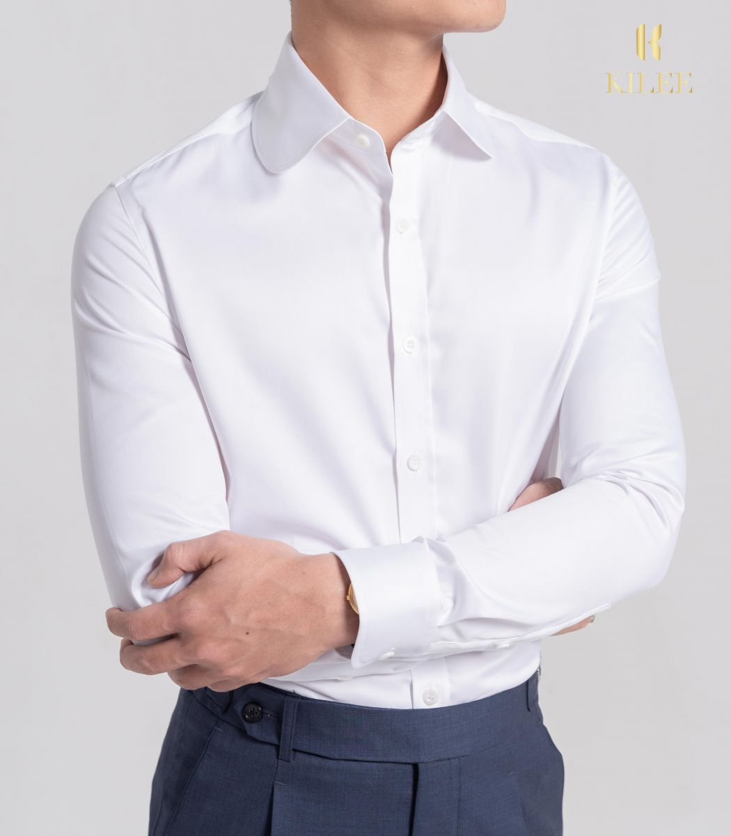 White Club Collar Shirt